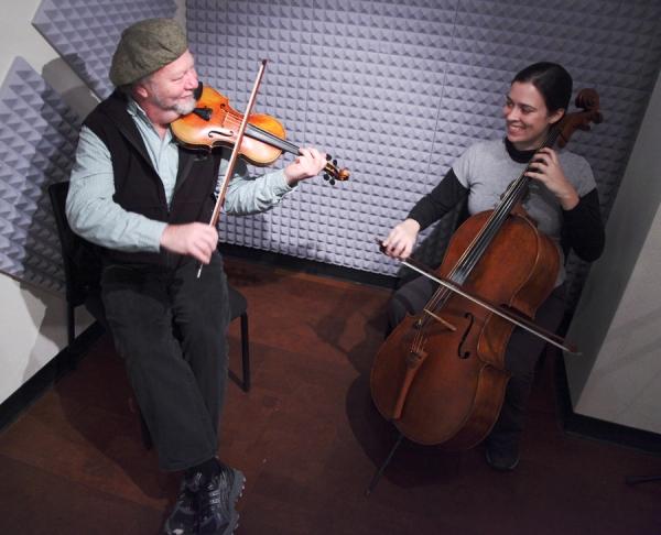 Scottish fiddler Alasdair Fraser and cellist Natalie Haas on Alaska Live.