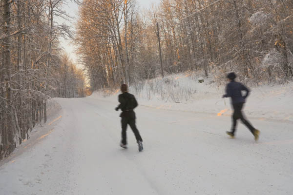 Christmas day run in a white wonderland.