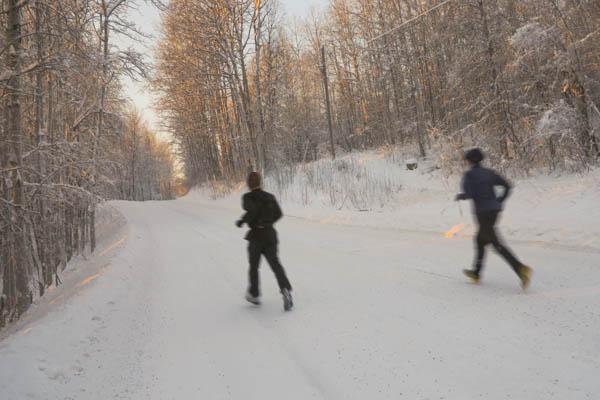 Christmas day run in a white wonderland.
