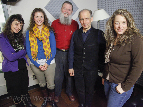 Left to right: Maryanne Babij, April Jaillet, Jeff Iverson, Bruce Adolphe and host Lori Neufeld.