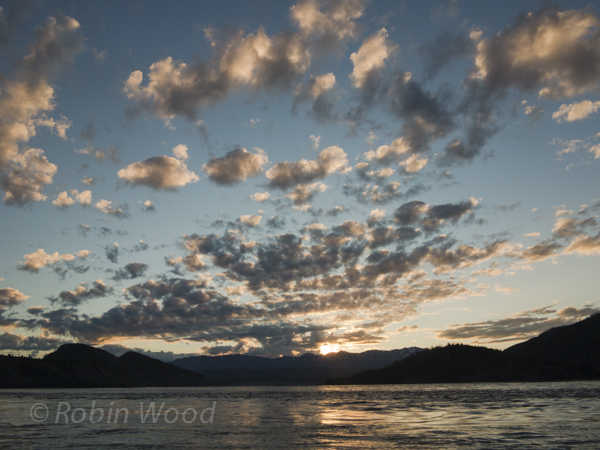 Sunrise over the Copper River at 4:30 a.m., June 11, 2013.