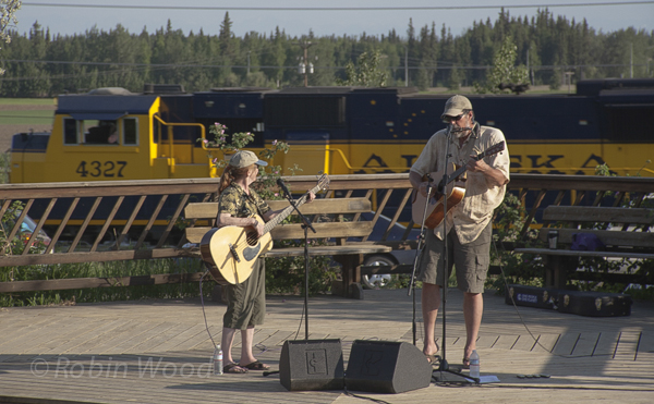 Alaska Railroad doesn't may make music harder to hear, but adds fun picture elements.