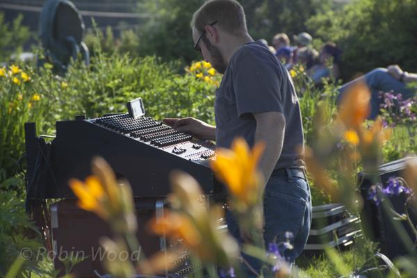 Always working: Josh Bennett of Sound Reinforcement Systems