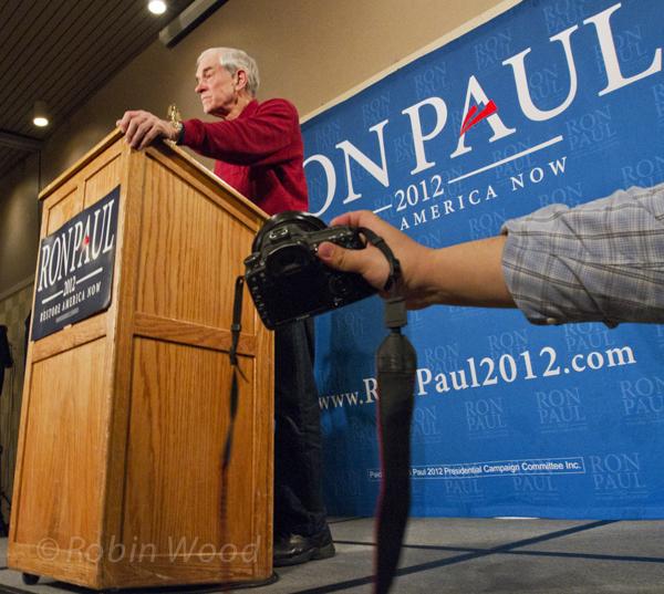 Ron Paul visists Fairbanks, Alaska.