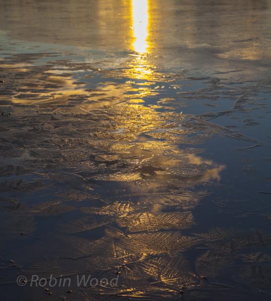 Sunset glows on ice crystals  Oct. 29, 2013