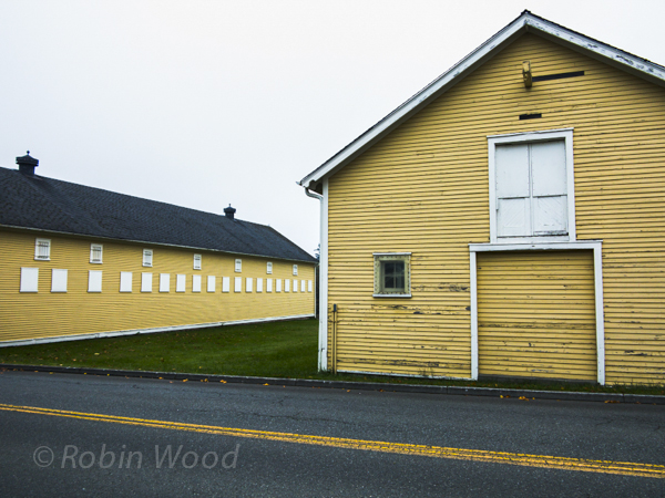Old yellow stables at Discovery Park.