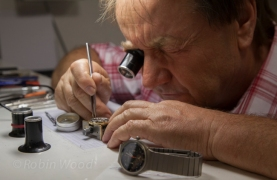 A watch repairman in Switzerland.