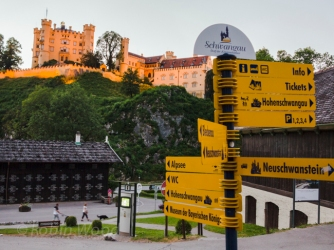 Hohenschwangau Castle, the castle Ludwig was raised, he always desired to build a bigger one for himself.