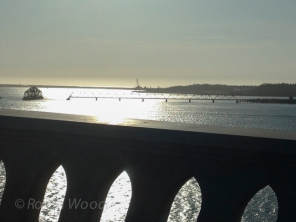 Rotating bridge on what I believe to be the Columbia River.