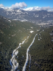 Roughly 1,400 feet in the air on the Peak 2 Peak Gondola.The only comparable view would be from a helicopter.