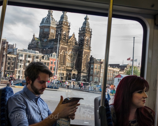 Public transport in Amsterdam.