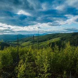 Sweeping vistas are common in the Chena River drainages.
