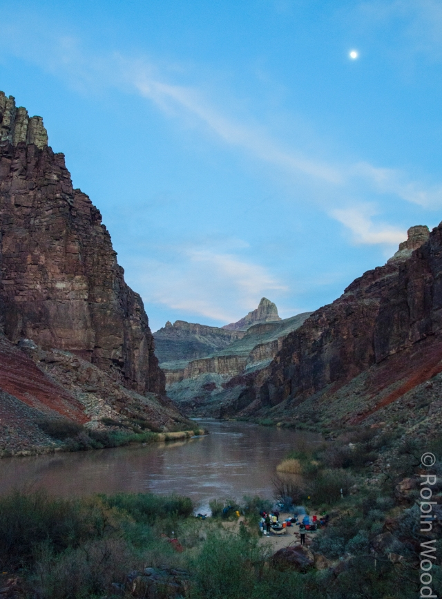 Camping along the Colorado River.